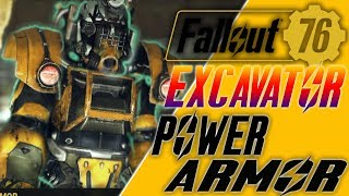 fallout 76 How to get the excavator power armor & how to get black titanium in fallout 76
