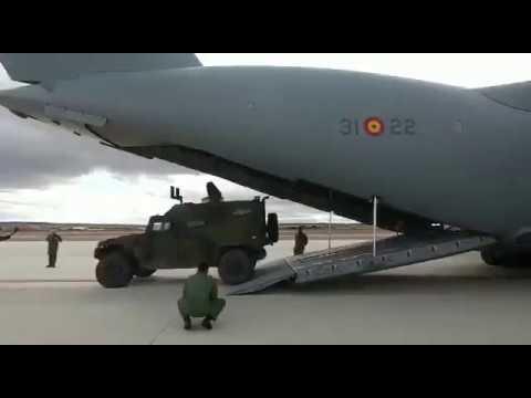 Los vehículos de combate Piraña IIIC de la Armada española ya pueden volar en los A400M