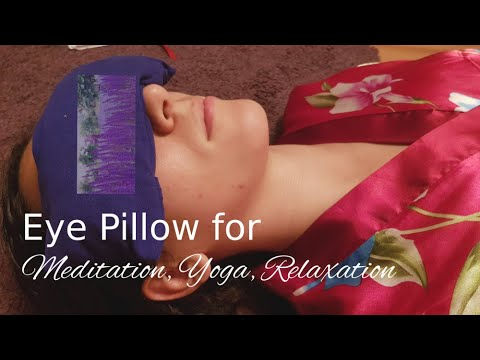 DIY: Yoga Augenkissen mit Lavende  Lavender pillow  Възглавница от лавандула 薰衣草 - 枕頭  瑜伽眼枕