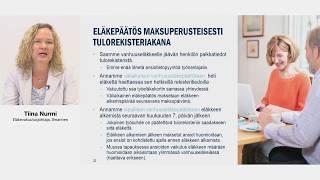 Tulorekisteri-webinaari 29.5.2018 / Tiina Nurmi: Vuoden 2019 muutokset työeläkevakuuttamisessa