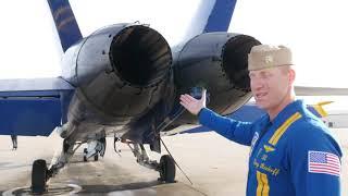 Blue Angels F-18 Hornet Walkaround Tour