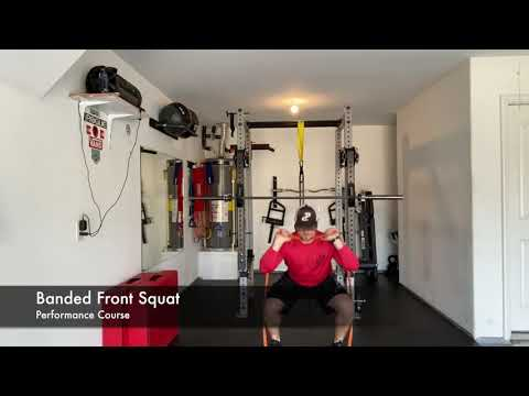 Banded Front Squat