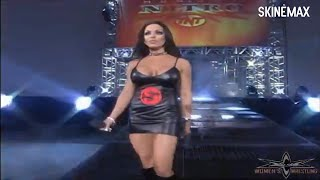 Midajah In Tight Leather Dress & Leather Boots On WCW Nitro (July 10, 2000)