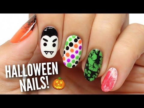 5 Last Minute Halloween Nail Art Designs!
