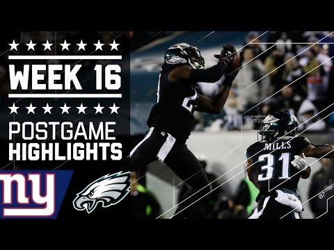 Giants vs. Eagles | NFL Week 16 Game Highlights