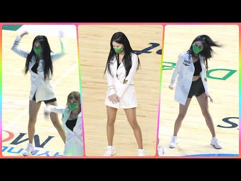[4K] 치어리더 원민주 직캠 (cheerleader) - 오프닝 특별공연 @남자농구(원주DB)/210110…