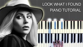 Learn how to play Look What I Found (Lady Gaga) on piano keyboard (from A Star Is Born)