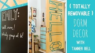 3 Totally Removable Dorm Decor DIYs With Tanner Bell - HGTV Handmade
