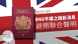 【維港外望】BNO平權之路新消息  避開聯合聲明