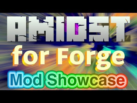 Amidst for Forge Mod  - Map All the Biomes and Many Structures - Including Modded