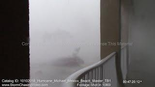 Category 5 Hurricane Michael Far Western Mexico Beach, FL Eye Wall - 10/10/2018
