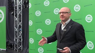 Scottish Greens kicked off their Official YES Campaign for Scottish Independence 31-JAN-2020