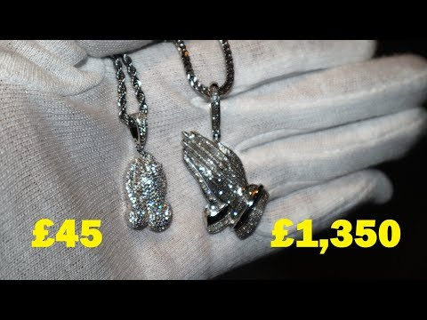 """Real vs """"Fake"""" Diamond Chain. What's the difference: Cubic Zirconia vs Diamonds"""
