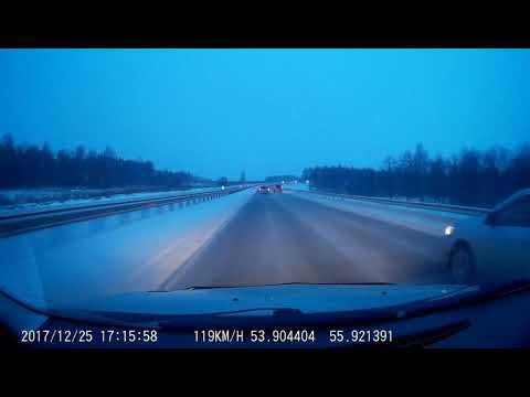 На трассе Уфа-Оренбург девушка не справилась с управлением и улетела в кювет