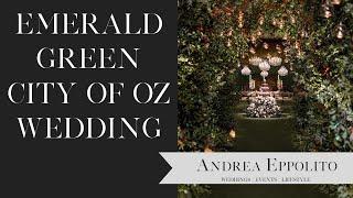 Emerald Green City Of Oz Aria Las Vegas Wedding | Andrea Eppolito