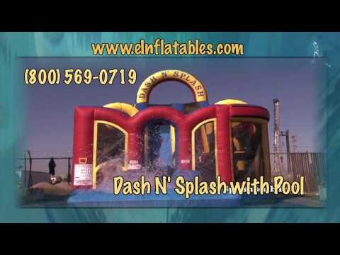 'Dash N' Splash' Inflatable Water Slide and Obstacle Course | eInflatables