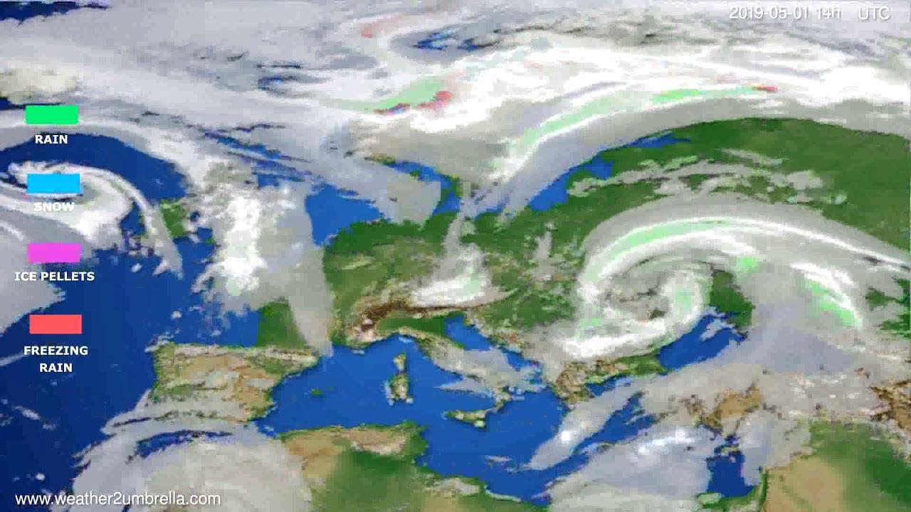 Precipitation forecast Europe // modelrun: 12h UTC 2019-04-29
