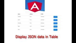 Display JSON Data in Table - Angular 5