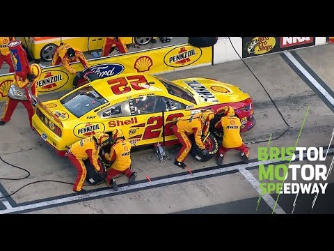 Logano has trouble on pit road early at Bristol