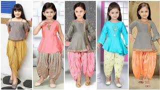 Baby Girl Dothi Pant And Dothi Shalwar Dress Designs //baby Girls Punjabi Suit Designs