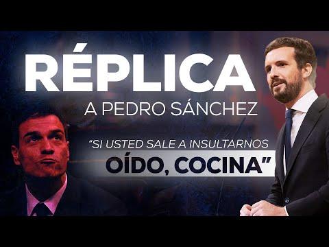 Réplica de Pablo Casado a Pedro Sánchez en el Congreso