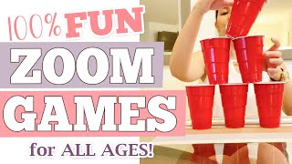 FUN ZOOM Party Game Ideas For All Ages | Fun Virtual Happy Hour Games For Everyone