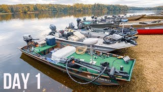 EPIC Topwater During Bass Fishing FALL CLASSIC!! BIGGEST Jon Boat Fishing Tournament Of The YEAR!