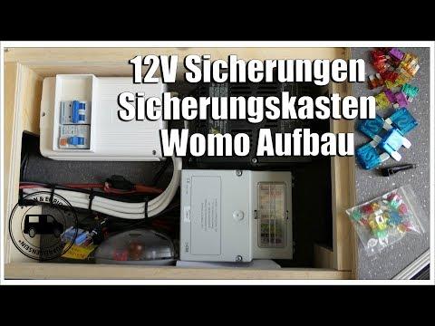 12V Sicherung und Sicherungskasten im Wohnmobil Aufbau