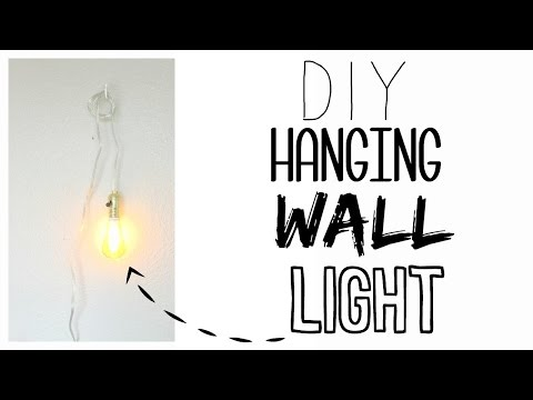 DIY Hanging Wall Lamp! | How to Wire a Light