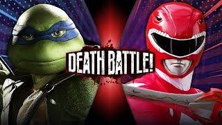 Leonardo VS Red Ranger Jason (Ninja Turtles VS Power Rangers) | DEATH BATTLE!