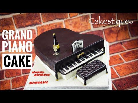 How To Make A Grand Piano Cake with Chocolate Moist Cake Recipe