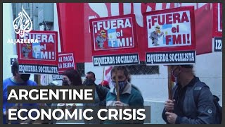 Argentina's protesters urge gov't to stop foreign debt payments