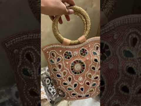 Ethnic Designer Bag - Bridal Evening Ethnic Bag