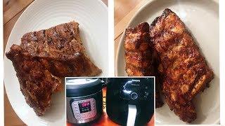 氣炸鍋/電子壓力鍋大比拼: 燒排骨 | BBQ Ribs: Airfryer vs Instant Pot
