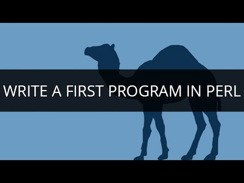 Write a first Program in PERL | Learn PERL Programming | PERL Tutorial for Beginners | Edureka