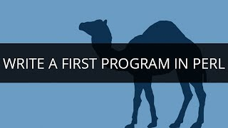 Write a first Program in PERL | Learn PERL Programming | PERL Tutorial for Beginners | Edureka