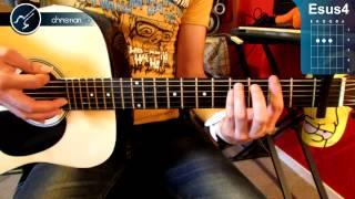 "Cómo tocar ""Sognare"" de Divisíon Minúscula en Guitarra Acústica (HD) - Christianvib"