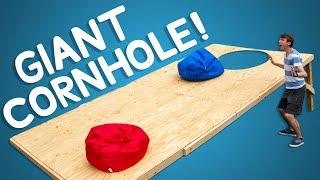 We Built the World's Largest Cornhole Game