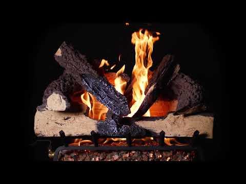 BBQGuys Rustic Canyon Charred Oak Vented Gas Log Set