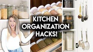 8 EASY KITCHEN ORGANIZATION IDEAS | DOLLAR STORE + IKEA HACKS