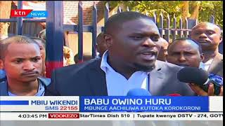 Nairobi Senator,Johnson Sakaja slams police department for arresting and detaining Babu Owino
