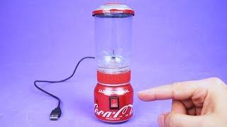 Faça um Incrível Mini Liquidificador USB com Motor DC e Latinhas de Alumínio