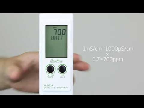 Tutorial - Medidor Hanna Gro Line® pH,CE,TDS y Temperatura HI9814