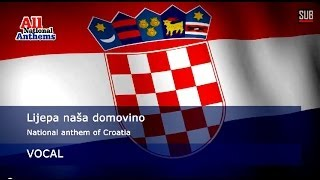 CROATIA national anthem (with lyrics in all languages)