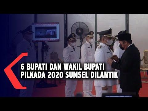 6 Bupati Dan Wakil Bupati Pilkada 2020 Sumsel Dilantik