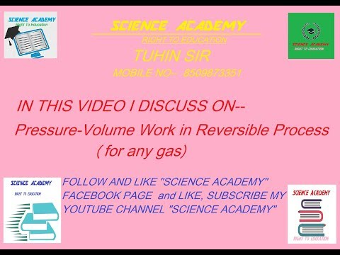 THERMODYNAMICS----EQUATION OF PRESSURE-VOLUME WORK FOR ANY GAS IN REVERSIBLE PROCESS