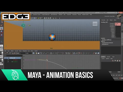 Maya Animation Tutorial for Beginners – Graph Editor HD