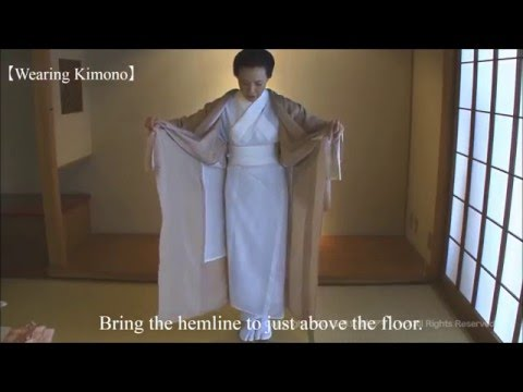 KITSUKE/ How to wear Kimono 【Part.2】---putting on Kimono(^-^*)
