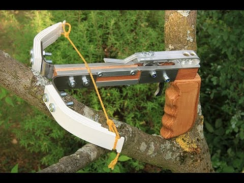 A homemade pistol crossbow with PVC limbs - смотреть онлайн