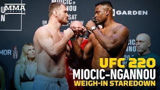 UFC 220: Stipe Miocic vs. Francis Ngannou Weigh-In Staredown - MMA Fighting
